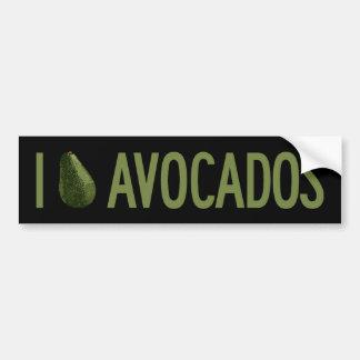I Love Avocados Bumper Sticker