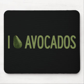 I Love Avocados Mouse Pad
