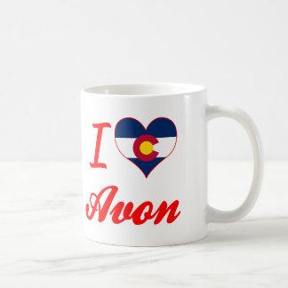 I Love Avon, Colorado Basic White Mug