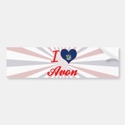 I Love Avon, Maine Bumper Stickers