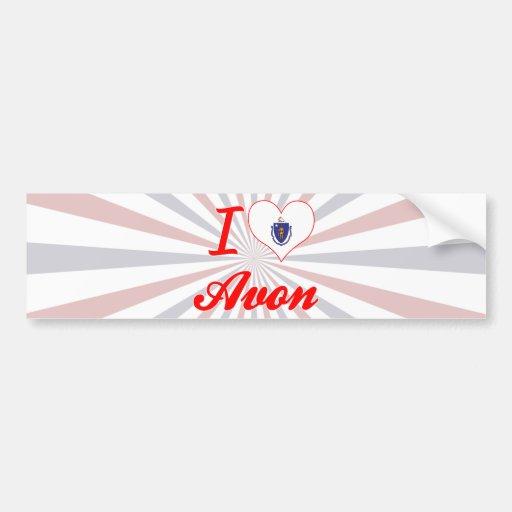 I Love Avon, Massachusetts Bumper Sticker