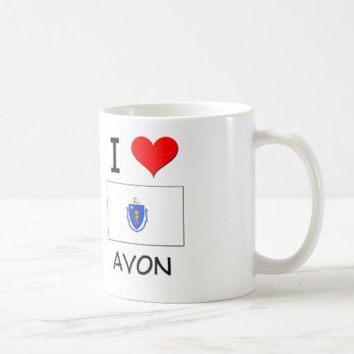 I Love Avon Massachusetts Coffee Mugs