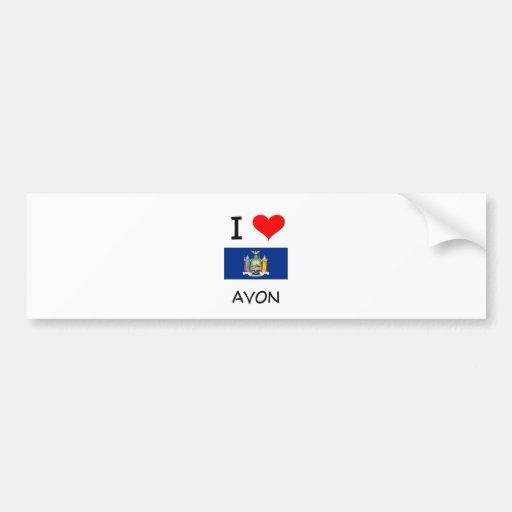 I Love Avon New York Bumper Stickers