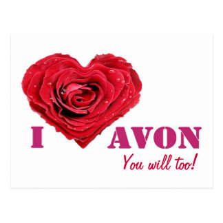 I Love AVON Post Card
