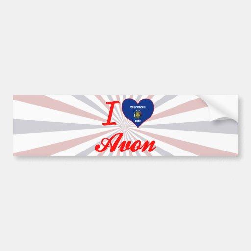 I Love Avon, Wisconsin Bumper Stickers