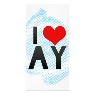 I Love AY Photo Greeting Card