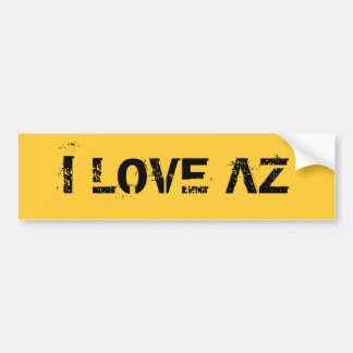 I LOVE AZ BUMPER STICKER