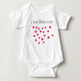 I love Baba best Baby Bodysuit