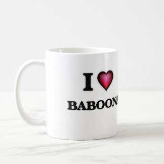 I Love Baboons Coffee Mug