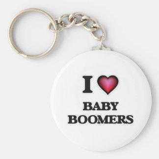I Love Baby Boomers Keychain