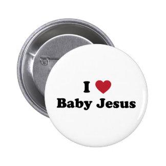 I love baby jesus 2 inch round button