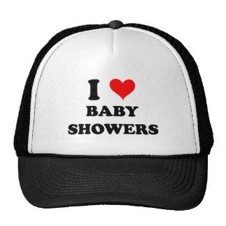 I Love Baby Showers Mesh Hat