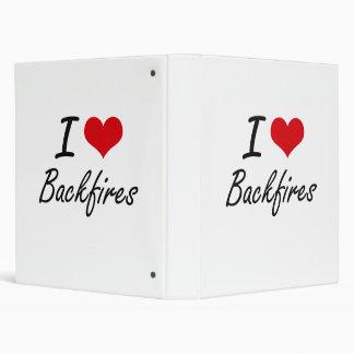 I Love Backfires Artistic Design Binders