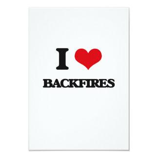 """I Love Backfires 3.5"""" X 5"""" Invitation Card"""