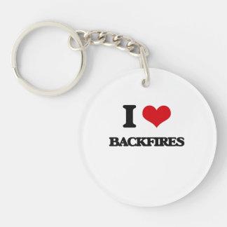 I Love Backfires Keychain