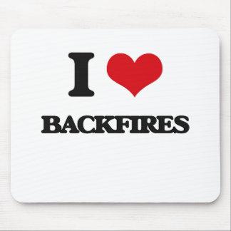 I Love Backfires Mouse Pad
