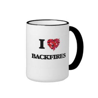 I Love Backfires Ringer Mug