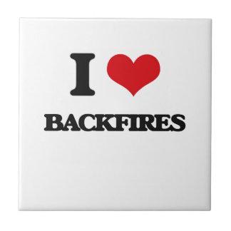I Love Backfires Ceramic Tiles