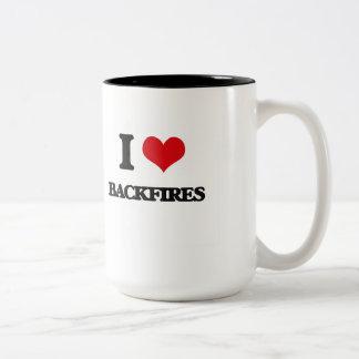 I Love Backfires Two-Tone Mug