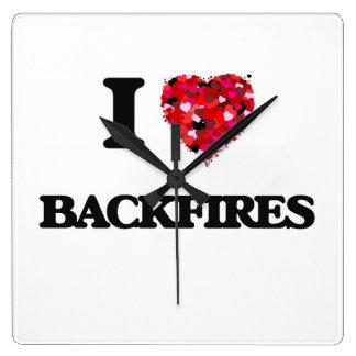 I Love Backfires Wallclocks