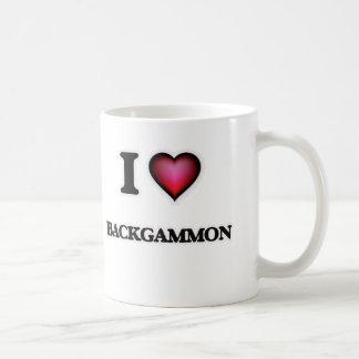 I Love Backgammon Coffee Mug