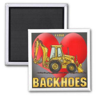 I Love Backhoes Coffee Mug Refrigerator Magnets