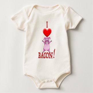 I LOVE BACON BABY BODYSUIT