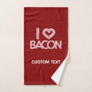 I Love Bacon Bath Towel Set