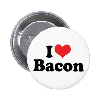 I Love Bacon Buttons