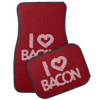 I Love Bacon Car Mat