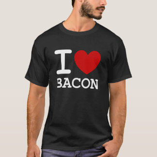 i love bacon design t shirt with heart