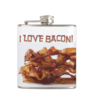 I Love Bacon Flask! Hip Flask