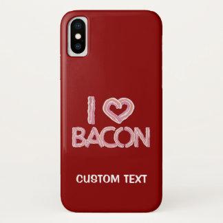 I Love Bacon iPhone X Case