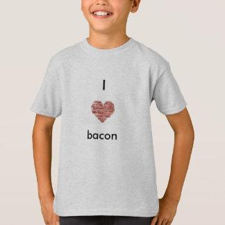 """I love bacon"" kids Hanes comfort fit T-shirt"