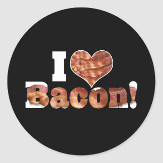 I Love Bacon Round Sticker