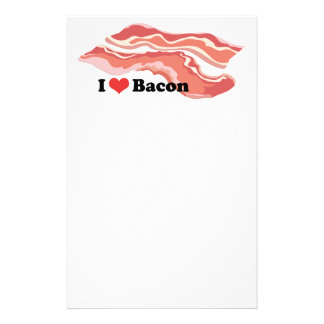 I Love Bacon Stationery