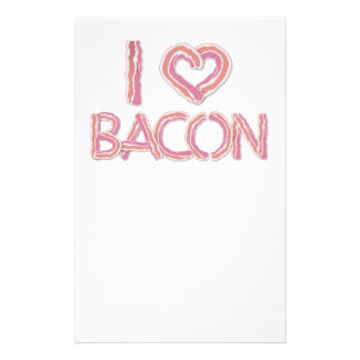 I Love Bacon Stationery Paper