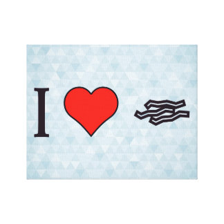I Love Bacon Stretched Canvas Prints