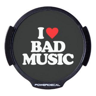 I LOVE BAD MUSIC LED WINDOW DECAL
