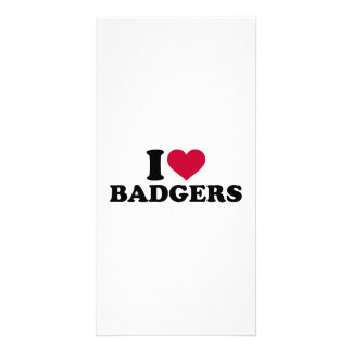 I love badgers photo cards