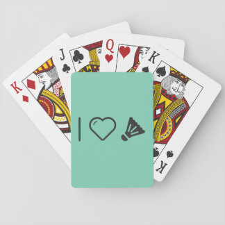 I Love badminton Playing Cards