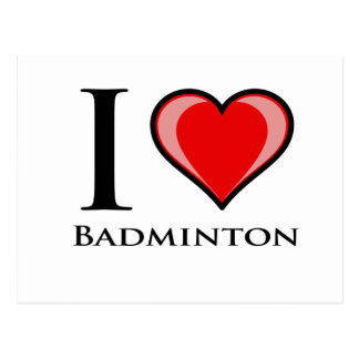 I Love Badminton Postcard