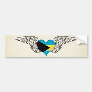 I Love Bahamas -wings Bumper Sticker
