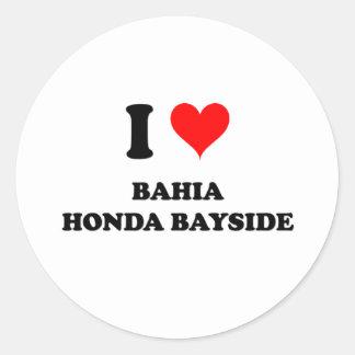 I Love Bahia Honda Bayside Round Stickers
