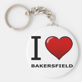 I LOVE BAKERSFIELD,CA - CALIFORNIA KEYCHAIN