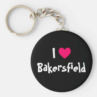 I Love Bakersfield Keychain