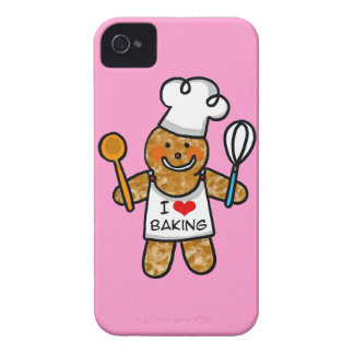 I love baking (gingerbread man cookie) iPhone 4 cases