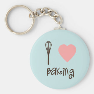 I Love Baking Key Chain
