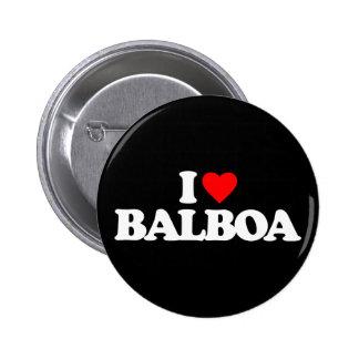 I LOVE BALBOA 2 INCH ROUND BUTTON