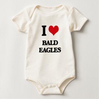 I Love Bald Eagles Baby Bodysuit